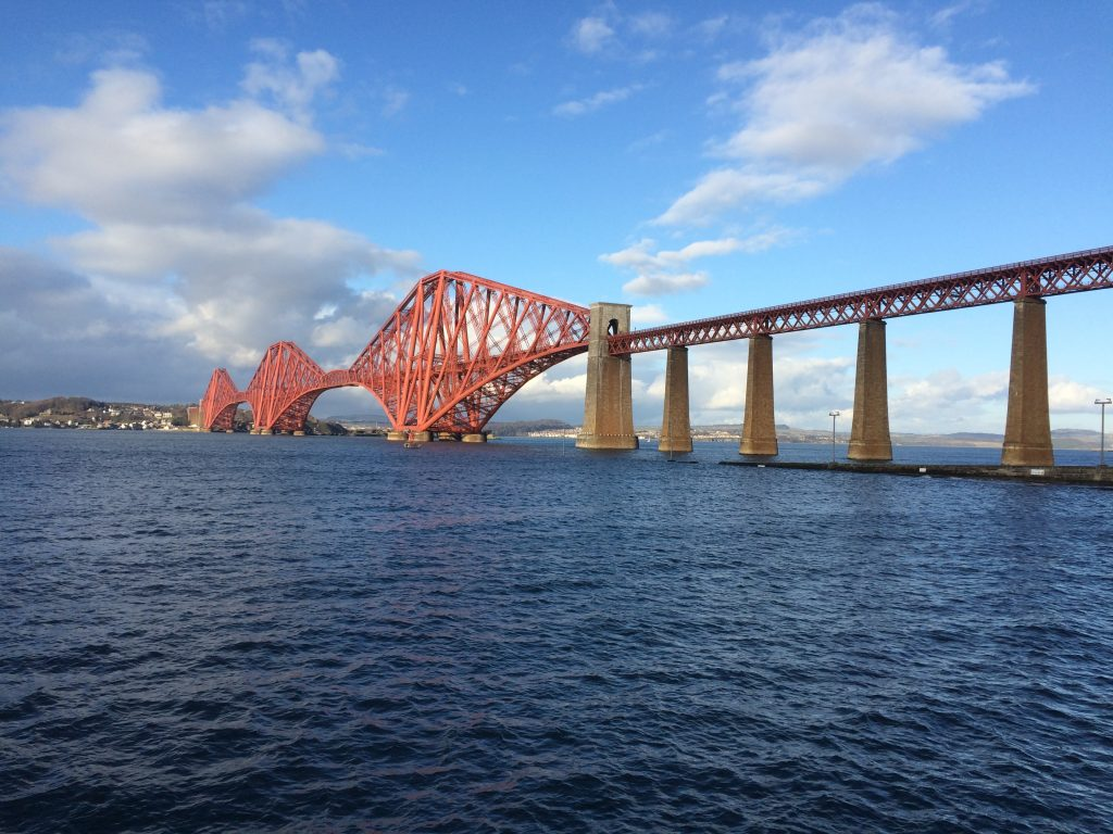 The iconic Forth (rail) Bridge